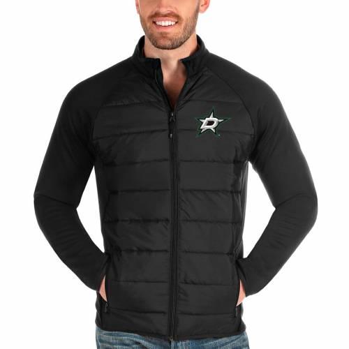 ANTIGUA ダラス 黒 ブラック メンズファッション コート ジャケット メンズ 【 Dallas Stars Altitude Full-zip Jacket - Black 】 Black
