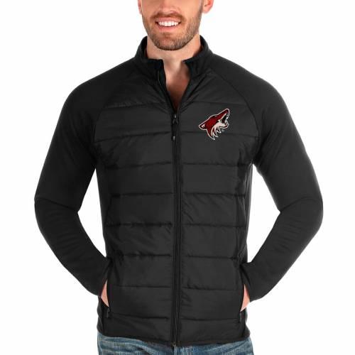 ANTIGUA アリゾナ 黒 ブラック メンズファッション コート ジャケット メンズ 【 Arizona Coyotes Altitude Full-zip Jacket - Black 】 Black