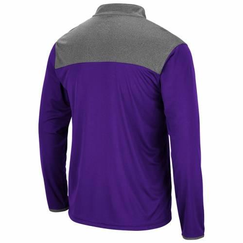 COLOSSEUM 紫 パープル メンズファッション コート ジャケット メンズ 【 Tcu Horned Frogs Cliff Quarter-zip Jacket - Purple 】 Purple
