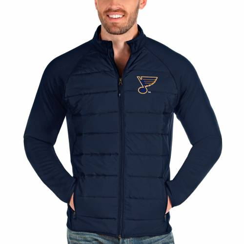 ANTIGUA 紺 ネイビー St. メンズファッション コート ジャケット メンズ 【 St. Louis Blues Altitude Full-zip Jacket - Navy 】 Navy