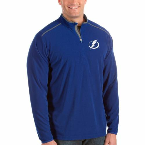 ANTIGUA メンズファッション コート ジャケット メンズ 【 Tampa Bay Lightning Big And Tall Glacier Quarter-zip Pullover Jacket - Royal 】 Royal