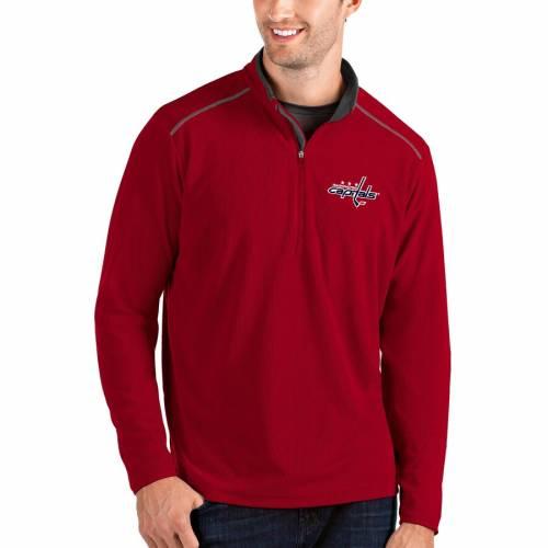 ANTIGUA ワシントン 灰色 グレー グレイ メンズファッション コート ジャケット メンズ 【 Washington Capitals Glacier Quarter-zip Pullover Jacket - Gray 】 Red