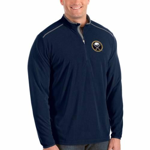 ANTIGUA バッファロー 紺 ネイビー メンズファッション コート ジャケット メンズ 【 Buffalo Sabres Big And Tall Glacier Quarter-zip Pullover Jacket - Navy 】 Navy