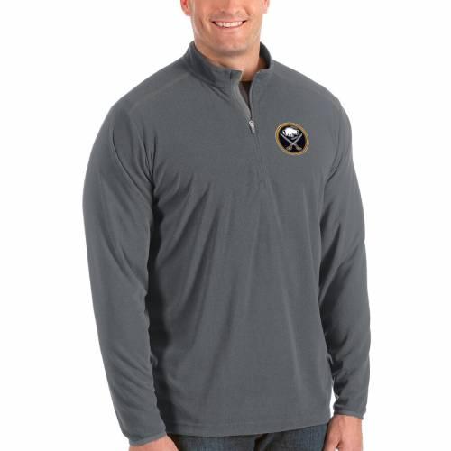 ANTIGUA バッファロー 紺 ネイビー メンズファッション コート ジャケット メンズ 【 Buffalo Sabres Big And Tall Glacier Quarter-zip Pullover Jacket - Navy 】 Steel