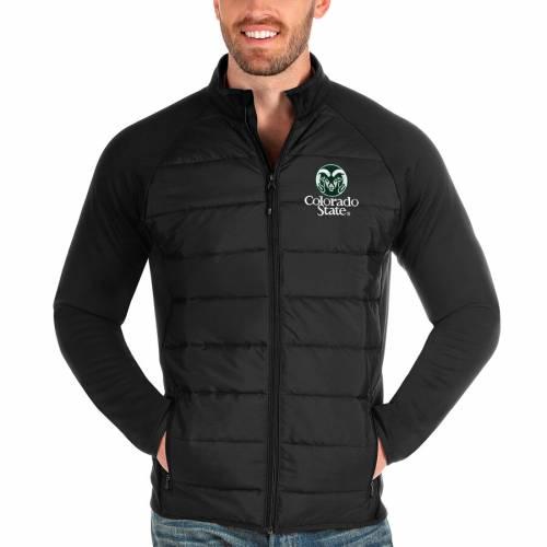 ANTIGUA コロラド スケートボード ラムズ 黒 ブラック メンズファッション コート ジャケット メンズ 【 Colorado State Rams Altitude Full-zip Jacket - Black 】 Black