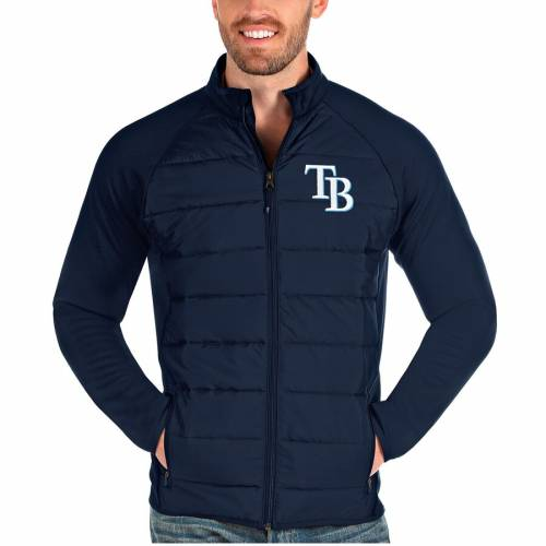 ANTIGUA レイズ 紺 ネイビー メンズファッション コート ジャケット メンズ 【 Tampa Bay Rays Altitude Full-zip Jacket - Navy 】 Navy