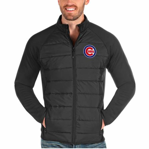 ANTIGUA シカゴ カブス チャコール メンズファッション コート ジャケット メンズ 【 Chicago Cubs Altitude Full-zip Jacket - Charcoal 】 Charcoal