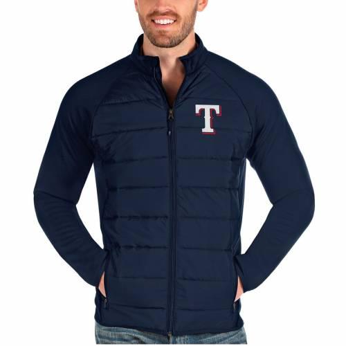ANTIGUA テキサス レンジャーズ 紺 ネイビー メンズファッション コート ジャケット メンズ 【 Texas Rangers Altitude Full-zip Jacket - Navy 】 Navy