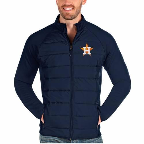 ANTIGUA ヒューストン アストロズ 紺 ネイビー メンズファッション コート ジャケット メンズ 【 Houston Astros Altitude Full-zip Jacket - Navy 】 Navy
