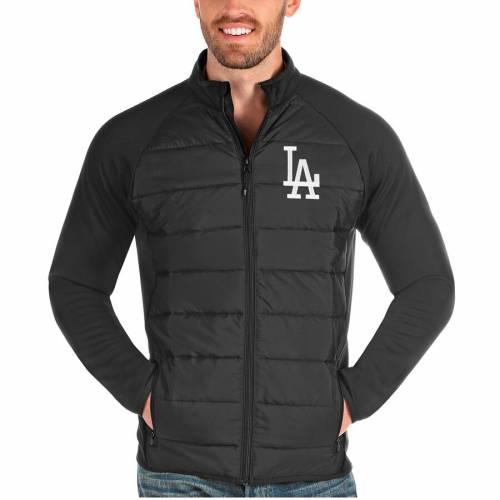ANTIGUA ドジャース チャコール メンズファッション コート ジャケット メンズ 【 Los Angeles Dodgers Altitude Full-zip Jacket - Charcoal 】 Charcoal