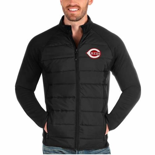 ANTIGUA シンシナティ レッズ 黒 ブラック メンズファッション コート ジャケット メンズ 【 Cincinnati Reds Altitude Full-zip Jacket - Black 】 Black