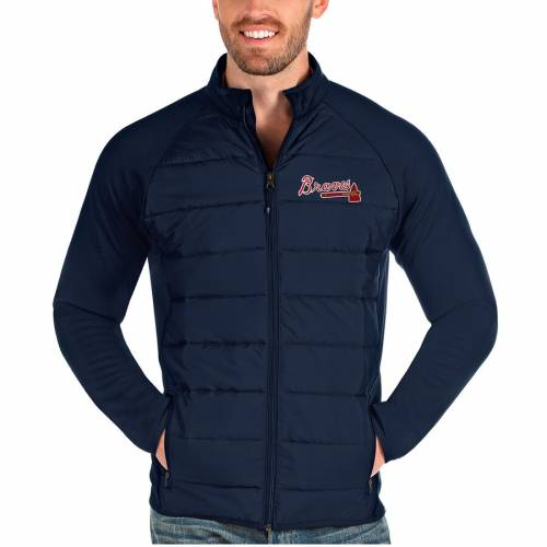 ANTIGUA アトランタ ブレーブス 紺 ネイビー メンズファッション コート ジャケット メンズ 【 Atlanta Braves Altitude Full-zip Jacket - Navy 】 Navy