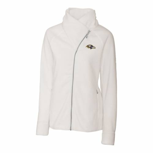 CUTTER & BUCK ボルティモア レイブンズ レディース フリース 白 ホワイト 【 Baltimore Ravens Cutter And Buck Womens Cozy Fleece Full-zip Jacket - White 】 White