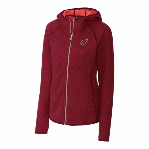 CUTTER & BUCK アリゾナ カーディナルス レディース 赤 レッド 【 Arizona Cardinals Cutter And Buck Womens Mainsail Full-zip Jacket - Red 】 Red