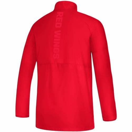 アディダス ADIDAS デトロイト 赤 レッド ゲーム メンズファッション コート ジャケット メンズ 【 Detroit Red Wings Game Mode Climalite Quarter-zip Jacket - Red 】 Red