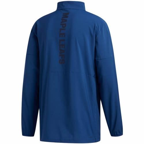 アディダス ADIDAS トロント ゲーム 青 ブルー メンズファッション コート ジャケット メンズ 【 Toronto Maple Leafs Game Mode Climalite Quarter-zip Jacket - Blue 】 Blue