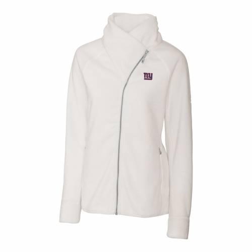 CUTTER & BUCK ジャイアンツ レディース フリース 白 ホワイト 【 New York Giants Cutter And Buck Womens Cozy Fleece Full-zip Jacket - White 】 White
