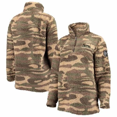 BOXERCRAFT タイガース レディース 【 Lsu Tigers Womens Oht Military Appreciation Sherpa Quarter-zip Pullover Jacket - Camo 】 Camo