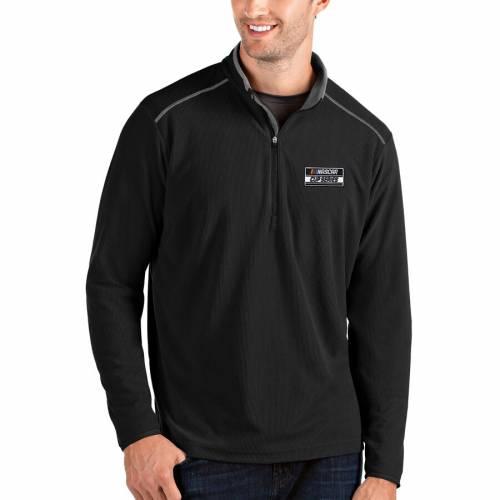 ANTIGUA シリーズ メンズファッション コート ジャケット メンズ 【 2020 Nascar Cup Series Glacier Quarter-zip Pullover Jacket - Black/charcoal 】 Black