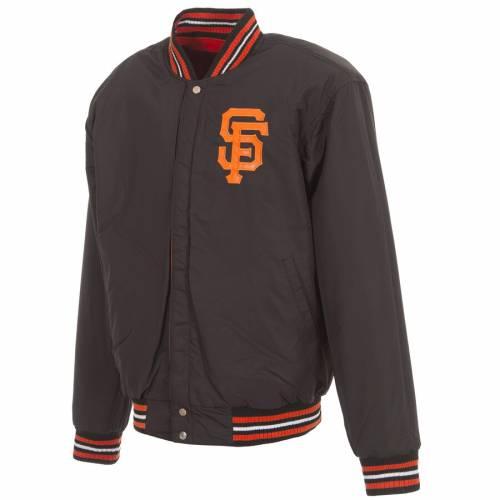 JH DESIGN ジャイアンツ ロゴ リバーシブル メンズファッション コート ジャケット メンズ 【 San Francisco Giants Embroidered Logo Reversible Wool Full-snap Jacket - Orange/black 】 Orange/black