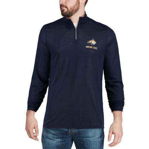 アンダーアーマー UNDER ARMOUR モンタナ スケートボード ボブキャッツ 紺 ネイビー メンズファッション コート ジャケット メンズ 【 Montana State Bobcats Threadborne Quarter-zip Jacket - Navy 】 Navy