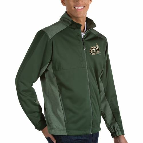 ANTIGUA シャーロット フォーティーナイナーズ 黒 ブラック メンズファッション コート ジャケット メンズ 【 Charlotte 49ers Revolve Full-zip Jacket - Black 】 Green
