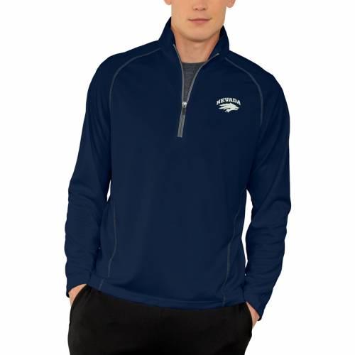 VANTAGE APPAREL パフォーマンス 紺 ネイビー メンズファッション コート ジャケット メンズ 【 Nevada Wolf Pack Vansport Performance Quarter-zip Pullover Jacket - Navy 】 Navy