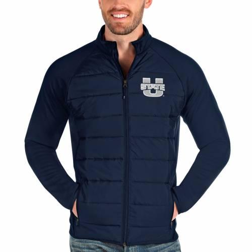 ANTIGUA ユタ スケートボード 紺 ネイビー メンズファッション コート ジャケット メンズ 【 Utah State Aggies Altitude Full-zip Jacket - Navy 】 Navy
