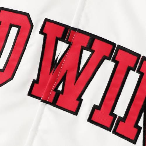 スターター STARTER デトロイト 赤 レッド サテン メンズファッション コート ジャケット メンズ 【 Detroit Red Wings Dugout Championship Satin Full-snap Jacket - White/red 】 White/red