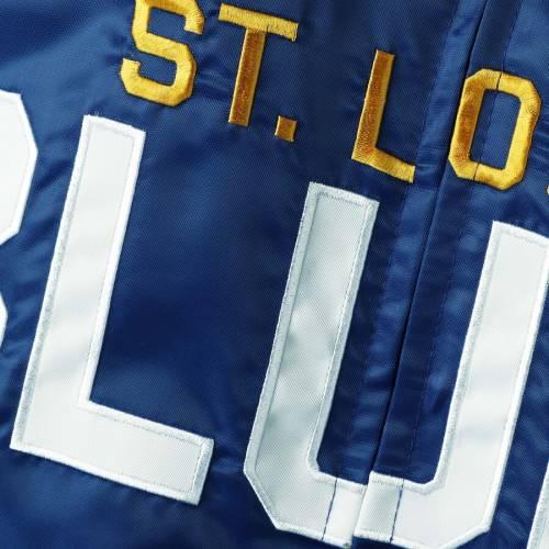 スターター STARTER サテン St. メンズファッション コート ジャケット メンズ 【 St. Louis Blues Captain Ii Satin Full-zip Jacket - Blue/gray 】 Blue/gray