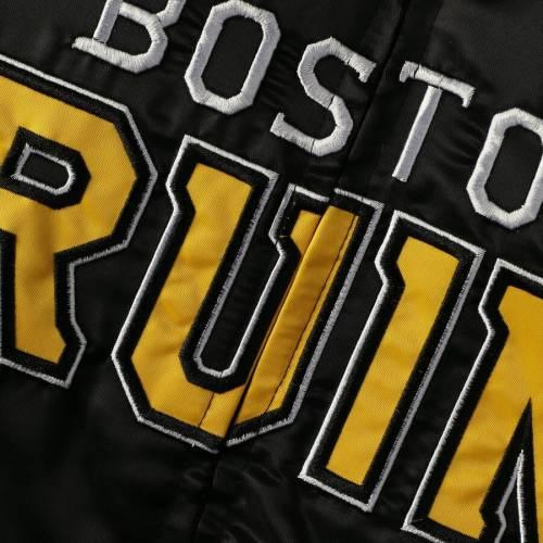 スターター STARTER ボストン サテン メンズファッション コート ジャケット メンズ 【 Boston Bruins Captain Ii Satin Full-zip Jacket - Black/gold 】 Black/gold
