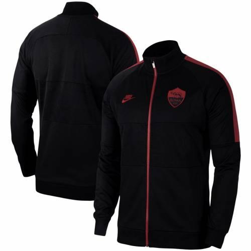 ナイキ NIKE ローマ 黒 ブラック メンズファッション コート ジャケット メンズ 【 As Roma Champions League I96 Full-zip Jacket - Black 】 Black