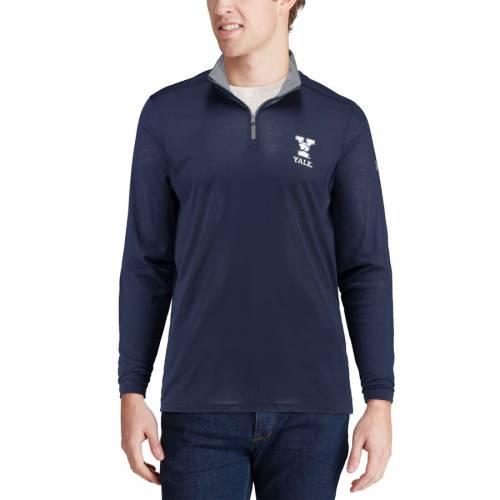 アンダーアーマー UNDER ARMOUR 紺 ネイビー メンズファッション コート ジャケット メンズ 【 Yale Bulldogs Threadborne Quarter-zip Jacket - Navy 】 Navy
