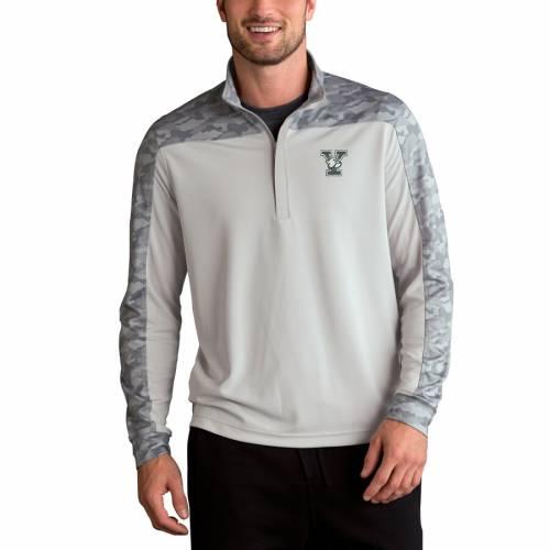 VANTAGE APPAREL プロ 灰色 グレー グレイ メンズファッション コート ジャケット メンズ 【 Yale Bulldogs Vansport Pro Camo Block 1/4-zip Pullover Jacket - Gray 】 Gray