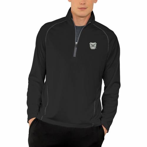 VANTAGE APPAREL バトラー パフォーマンス 黒 ブラック メンズファッション コート ジャケット メンズ 【 Butler Bulldogs Vansport Performance Quarter-zip Pullover Jacket - Black 】 Black