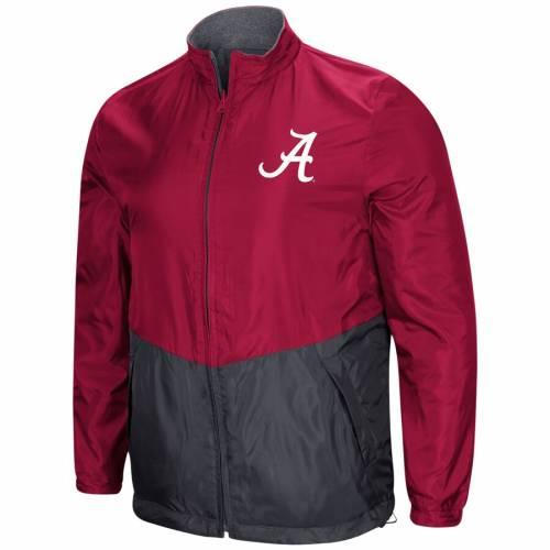 COLOSSEUM アラバマ リバーシブル メンズファッション コート ジャケット メンズ 【 Alabama Crimson Tide Halfback Option Reversible Full-zip Jacket - Crimson 】 Crimson