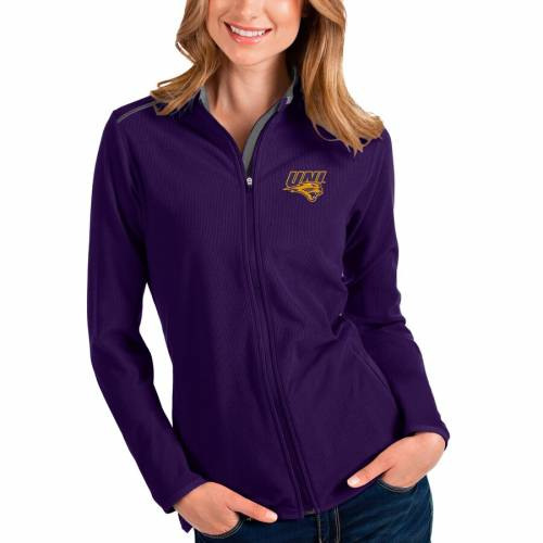 ANTIGUA パンサーズ レディース 【 Northern Iowa Panthers Womens Glacier Full-zip Jacket - Purple/gray 】 Purple
