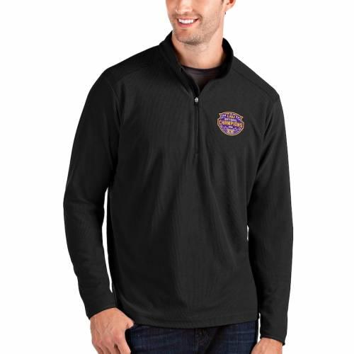 ANTIGUA タイガース カレッジ 黒 ブラック メンズファッション コート ジャケット メンズ 【 Lsu Tigers College Football Playoff 2019 National Champions Glacier Quarter-zip Pullover Jacket - Black 】 Black