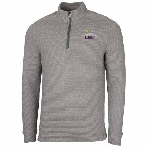 CUTTER & BUCK タイガース カレッジ 灰色 グレー グレイ メンズファッション コート ジャケット メンズ 【 Lsu Tigers Cutter And Buck College Football Playoff 2019 National Champions Coastal Big And Tall Half-zip P