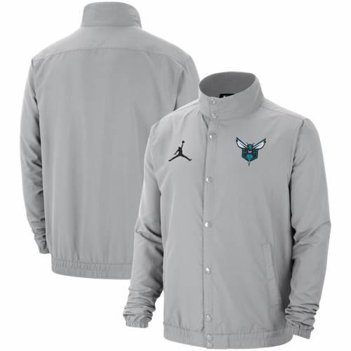 JORDAN BRAND シャーロット ホーネッツ シティ 灰色 グレー グレイ 2.0 メンズファッション コート ジャケット メンズ 【 Charlotte Hornets City Edition 2.0 Lightweight Dna Full-snap Jacket - Gray 】 Gray