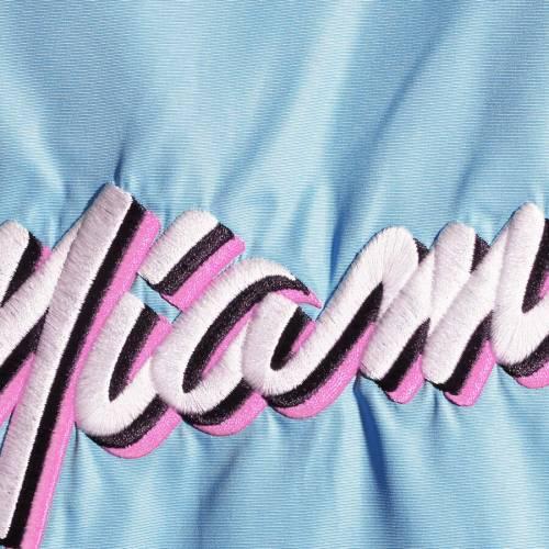 ナイキ NIKE マイアミ ヒート レディース シティ 2.0 【 Miami Heat Womens City Edition 2.0 Courtside Full-zip Jacket - Light Blue/black 】 Light Blue/black
