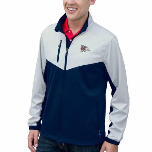 VANTAGE APPAREL スケートボード メンズファッション コート ジャケット メンズ 【 Fresno State Bulldogs Air-block Full-zip Jacket - Navy/silver 】 Navy/silver