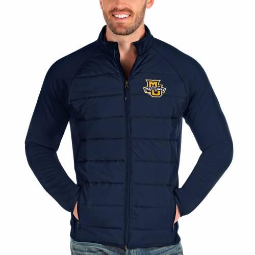 ANTIGUA マーケット イーグルス 紺 ネイビー メンズファッション コート ジャケット メンズ 【 Marquette Golden Eagles Altitude Full-zip Jacket - Navy 】 Navy