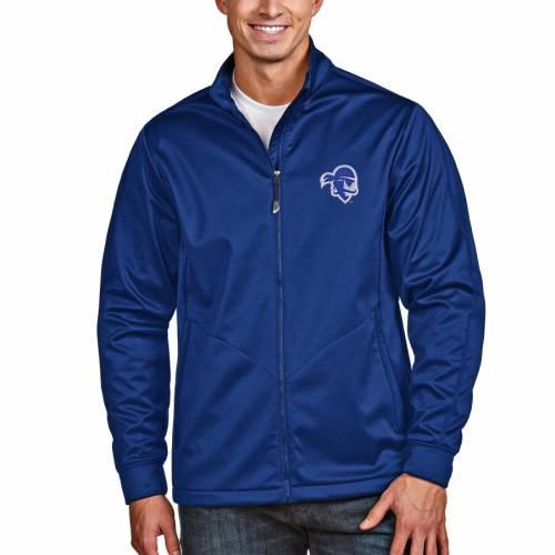 ANTIGUA 海賊団 ゴルフ メンズファッション コート ジャケット メンズ 【 Seton Hall Pirates Full-zip Golf Jacket - Royal 】 Royal
