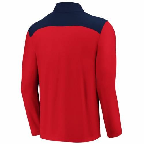 FANATICS BRANDED エンジェルス メンズファッション コート ジャケット メンズ 【 Los Angeles Angels Iconic Clutch Quarter-zip Pullover Jacket - Red/navy 】 Red/navy