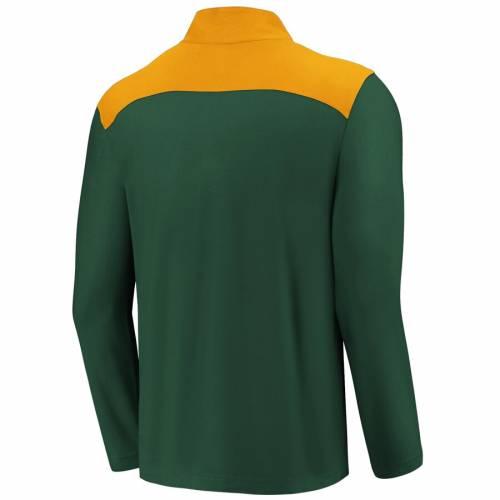 FANATICS BRANDED オークランド メンズファッション コート ジャケット メンズ 【 Oakland Athletics Iconic Clutch Quarter-zip Pullover Jacket - Green/gold 】 Green/gold