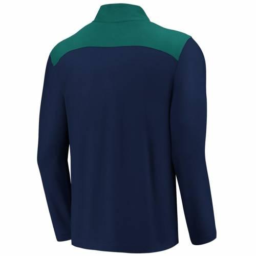 FANATICS BRANDED シアトル マリナーズ メンズファッション コート ジャケット メンズ 【 Seattle Mariners Iconic Clutch Quarter-zip Pullover Jacket - Navy/aqua 】 Navy/aqua