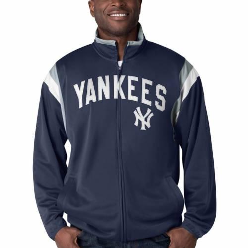 G-III SPORTS BY CARL BANKS ヤンキース トラック 紺 ネイビー メンズファッション コート ジャケット メンズ 【 New York Yankees Post Up Full-zip Track Jacket - Navy 】 Navy