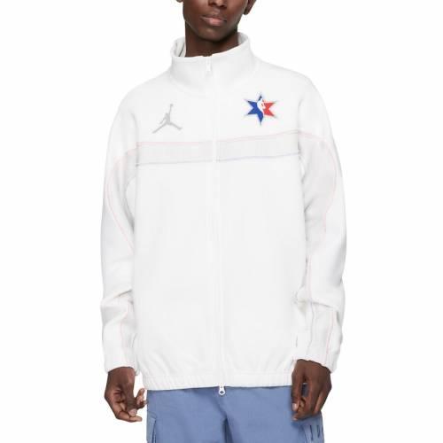 JORDAN BRAND ゲーム 白 ホワイト メンズファッション コート ジャケット メンズ 【 2020 Nba All-star Game Full-zip Jacket - White 】 White
