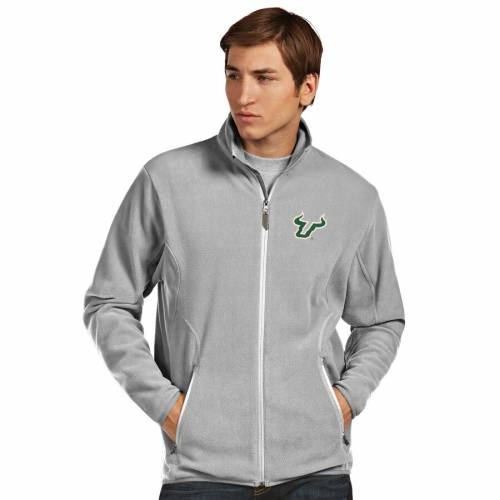 ANTIGUA フロリダ ブルズ 銀色 シルバー メンズファッション コート ジャケット メンズ 【 South Florida Bulls Ice Full-zip Jacket - Silver 】 Silver